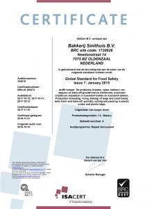 BRC certificaat 2017