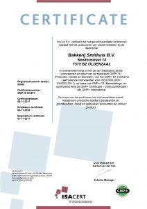 GMP certificaat 2017